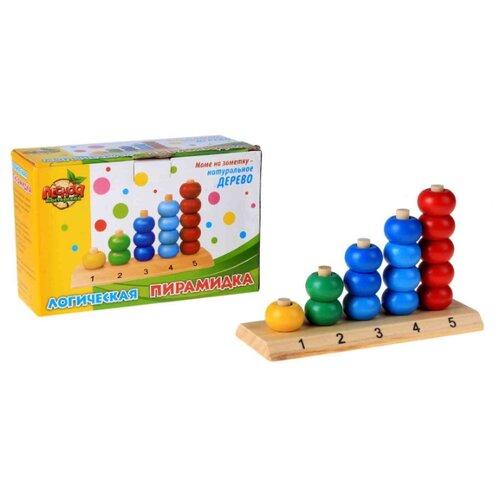 Пирамидка Лесная мастерская Учим цифры и цвета