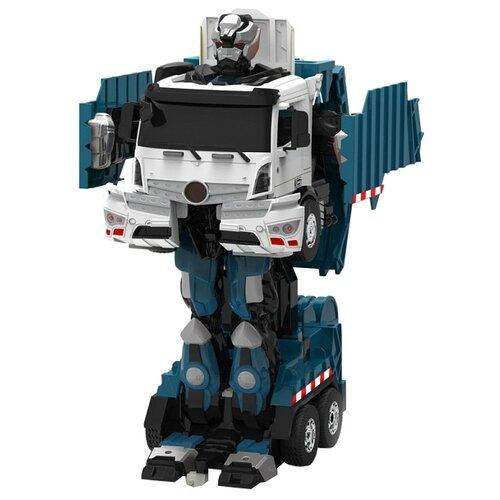 Робот-трансформер 1 TOY Мусоровоз синий/белыйРоботы и трансформеры<br>