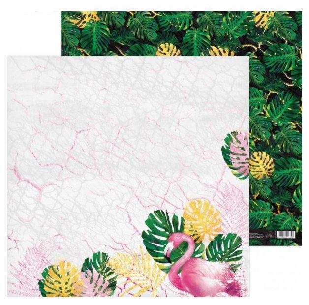 Бумага Арт Узор 30.5x30.5 см, 1 лист, Фламинго