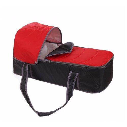 Люлька-переноска Карапуз Кокон серый/красный сумки переноски карапуз кокон