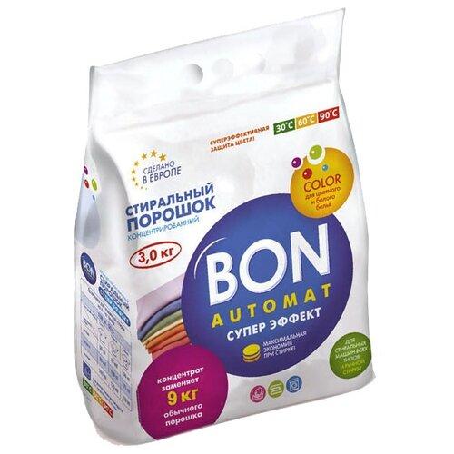 Стиральный порошок BON Супер эффект (автомат) 3 кг пластиковый пакет