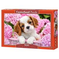 Пазл Castorland Pup in Pink Flowers (B-52233) , элементов: 500 шт.