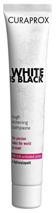 Зубная паста Curaprox White Is Black, мята
