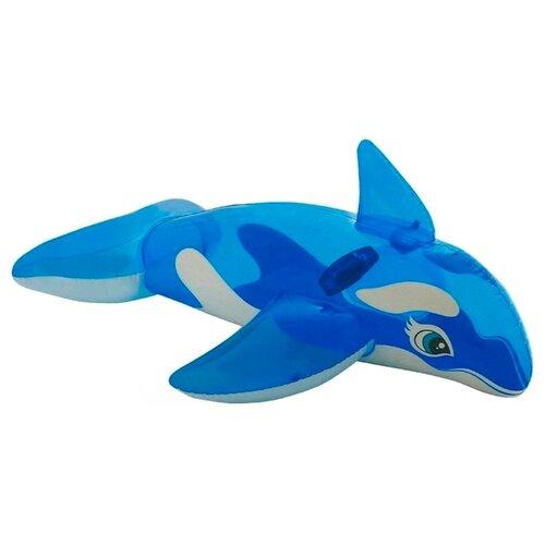 Надувная игрушка-наездник Intex Касатка 58523 синий/белыйНадувные игрушки<br>