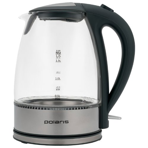 Чайник Polaris PWK 1719CGL, серебристый/черный