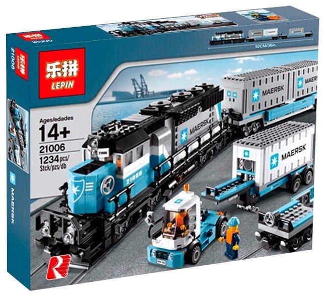Электромеханический <b>конструктор Lepin</b> Train Series <b>21006</b> ...