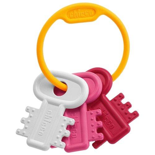 Прорезыватель-погремушка Chicco Ключи на кольце 6321 розовый chicco погремушка ключи на кольце голубая chicco