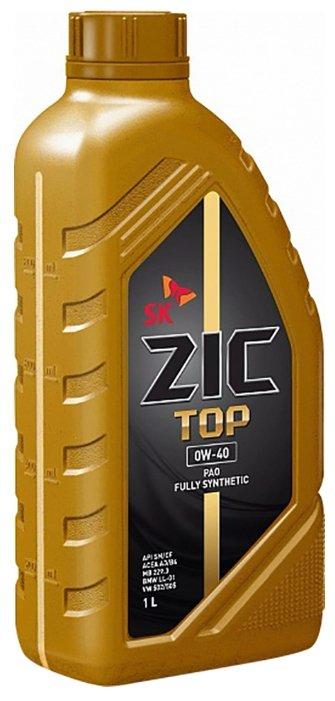Моторное масло ZIC TOP 0W-40 1 л