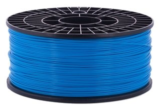 PLA пруток на катушке Мастер Пластер 1.75 мм голубой 1 кг фото 1