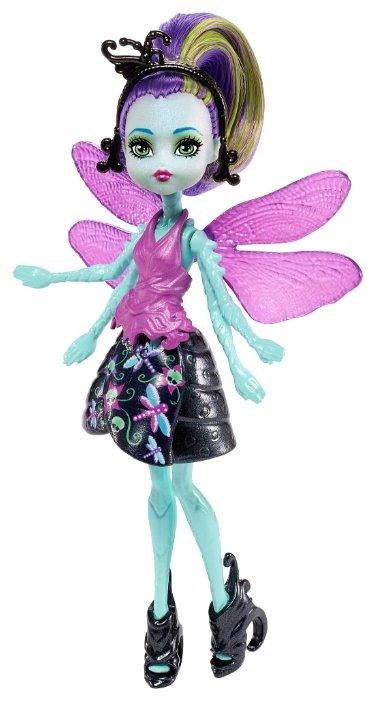 Кукла Monster High Цветочные монстрики с питомцами Вингрид, 13 см, FCV48