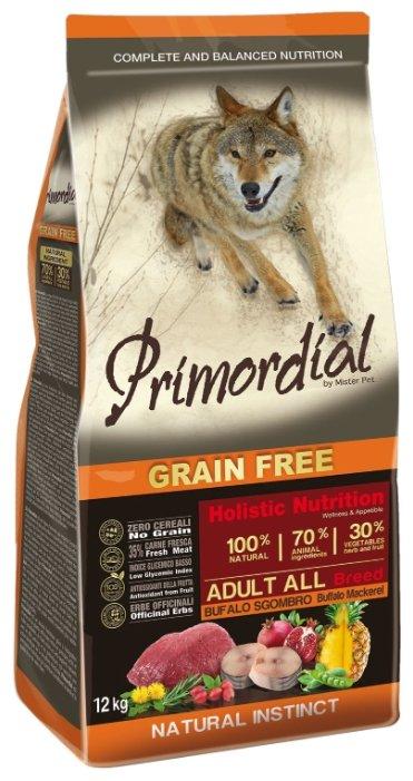 Корм для собак Primordial Adult All Breed Буйвол, скумбрия