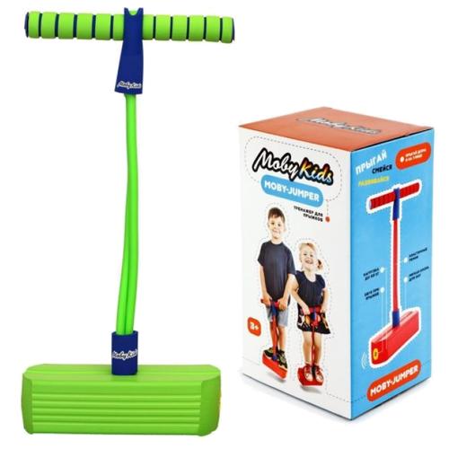 Купить Тренажер для прыжков Moby Kids Moby-Jumper со звуком зеленый, Спортивные игры и игрушки
