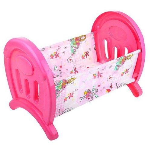 Полесье Кроватка сборная для кукол большая в пакете Coloma y pastor (55996) розовый/феи