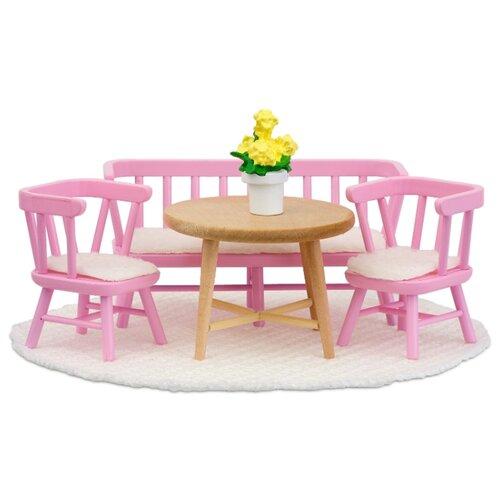 Купить Lundby Набор мебели для столовой (LB_60207900) розовый/белый, Мебель для кукол