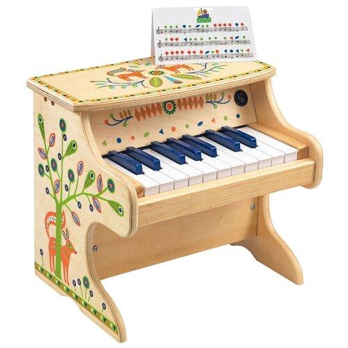 DJECO пианино Animambo 06006 бежевый/оранжевый/зеленый djeco маракас animambo