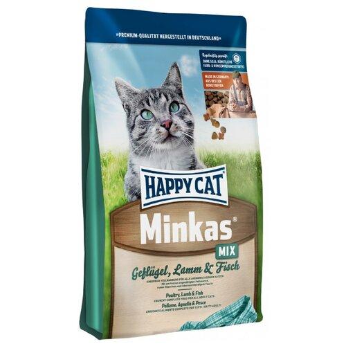 Корм для кошек Happy Cat Minkas Mix с ягненком, с птицей, с рыбой 1.5 кг