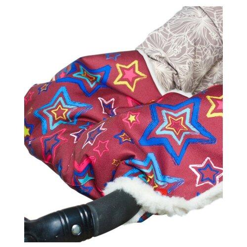 Купить Чудо-Чадо Муфта для рук меховая Комфорт звезды, Аксессуары для колясок и автокресел