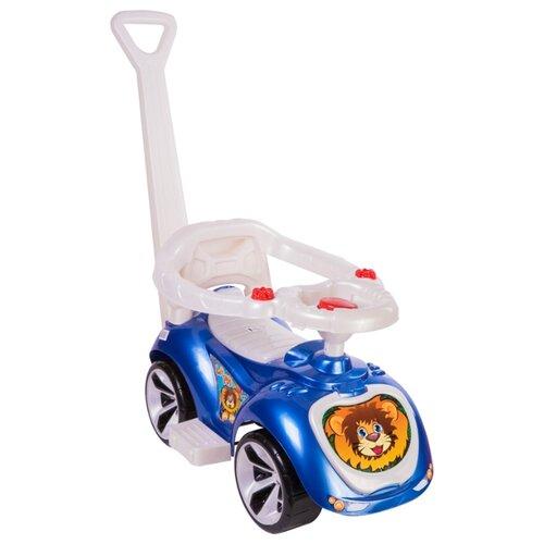 Купить Каталка-толокар Orion Toys Лапка (809) со звуковыми эффектами синий, Каталки и качалки