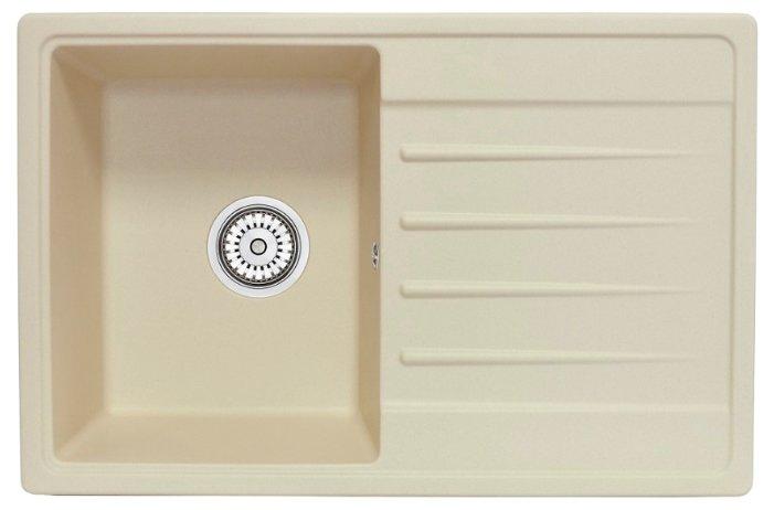 Врезная кухонная мойка Granula 7602 76х50см искусственный гранит