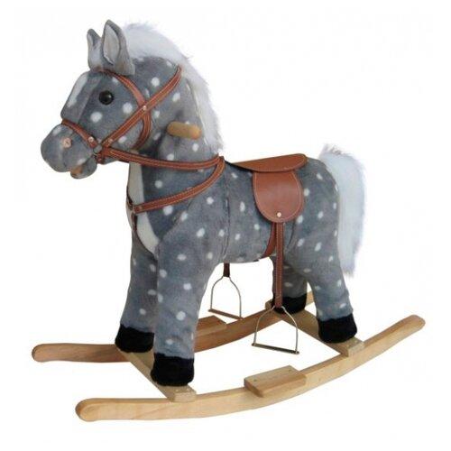 Качалка Shantou Gepai Лошадь в яблоках (611036) со звуковыми эффектами серый