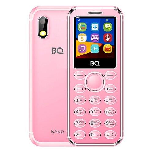 Телефон BQ 1411 Nano розовый мобильный телефон bq mobile bq 1411 nano gold