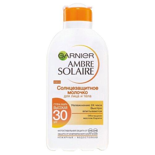 GARNIER Ambre Solaire классическое солнцезащитное молочко с карите для лица и тела SPF 30 200 мл garnier ambre solaire молочко