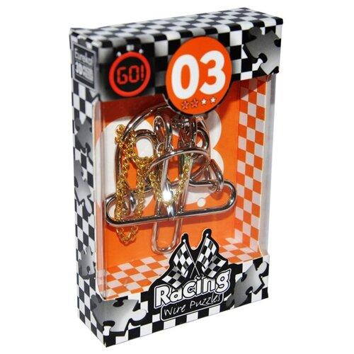 Купить Головоломка Eureka 3D Puzzle Racing Wire Puzzles 3 сложность 2 (473273) серый/желтый, Головоломки