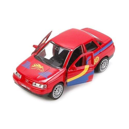 Купить Легковой автомобиль ТЕХНОПАРК Lada 110 Спорт (SB-16-44-S-WB) 12 см красный, Машинки и техника
