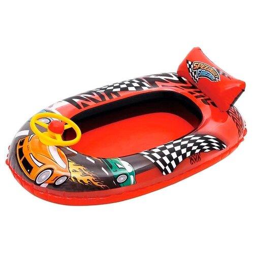 Купить Лодочка Bestway Машина Speedway Friends 34090 BW красный/черный/желтый, Надувные игрушки
