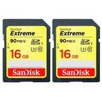 Карта памяти SanDisk Extreme SDHC UHS Class 3 90MB/s
