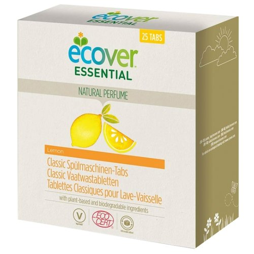 бытовая химия ecover таблетки для посудомоечной машины 3 в 1 0 5 кг Ecover Essential таблетки (лимон) для посудомоечной машины, 25 шт.