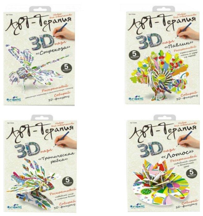 3D-пазл Origami Арт-терапия Живая природа (03068) в ассортименте