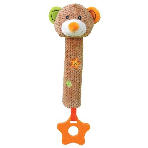 Купить Прорезыватель-погремушка Жирафики Мишка Вилли 939319 коричневый/оранжевый/зеленый, Погремушки и прорезыватели