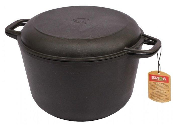 Кастрюля с крышкой-сковородой 6 л Биол 0206