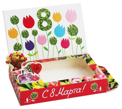 живая открытка 8 марта для выращивания комнатных растений