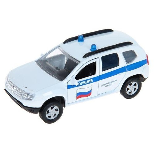 Внедорожник Autotime (Autogrand) Renault Duster полиция (49478) 1:38 11 см белый / синий / красный игрушка технопарк renault duster полиция duster p