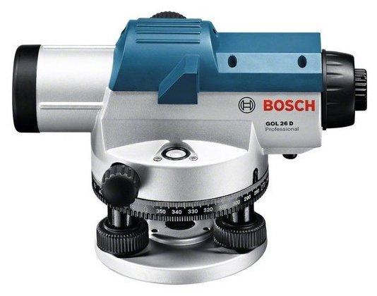 Оптический нивелир BOSCH GOL 26 D + штатив BT 160 + рейка GR 500 (0601068002)