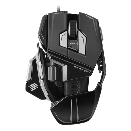 Мышь Mad Catz M.M.O. 7 Gaming Mouse Gloss Black USB