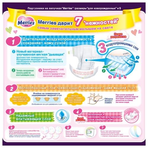 Подгузники Moony для новорожденных, NB 0-5 кг, 90 шт.