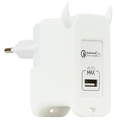 Сетевая зарядка MOMAX U.Bull (UM1S), белый фото 1