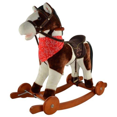 Купить Каталка-качалка Pituso Лошадка Fandango GS2030W со звуковыми эффектами белый/коричневый, Каталки и качалки