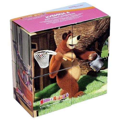 Купить Кубики-пазлы Step puzzle Маша и Медведь 87132, Детские кубики