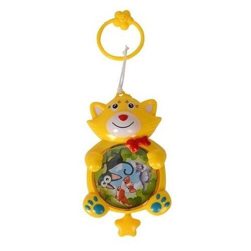 Купить Подвесная игрушка Zhorya Дремушка Котик (ZYK-K1886-2) желтый, Подвески