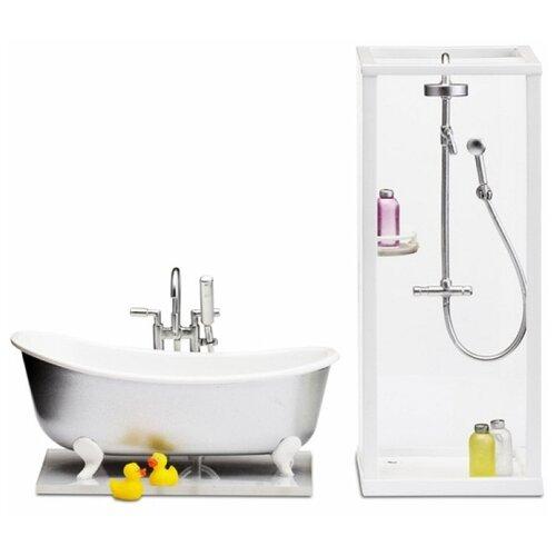 Купить Lundby Набор мебели для ванной комнаты Смоланд (LB_60208900) белый, Мебель для кукол