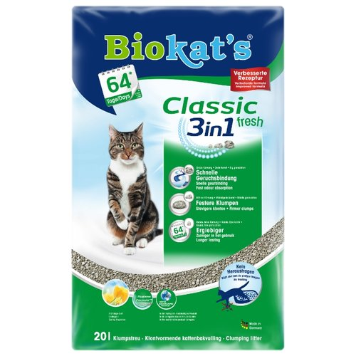 Комкующийся наполнитель Biokat's Classic Fresh 3in1 20 л
