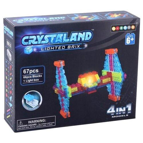Конструктор Crystaland Lighted Brix SHG006 Истребитель 4 в 1