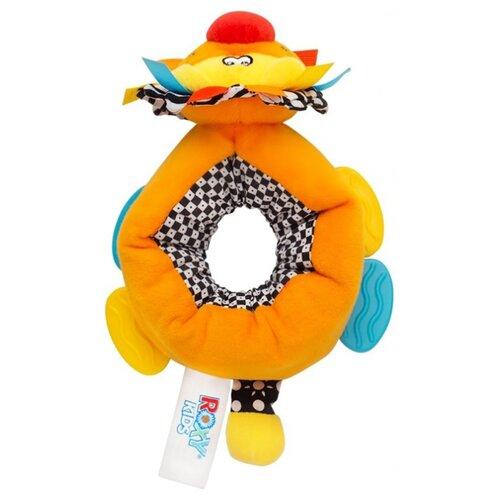 Прорезыватель-погремушка ROXY-KIDS Игрушка на ногу Львенок Бьонс желтый