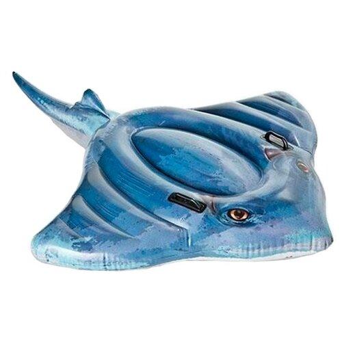 Купить Надувная игрушка-наездник Intex Скат 57550 синий, Надувные игрушки