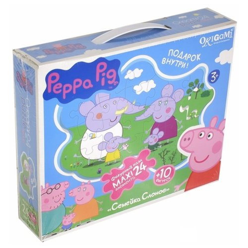Купить Пазл Origami Peppa Pig Семейка слонов (01540), 24 дет., Пазлы