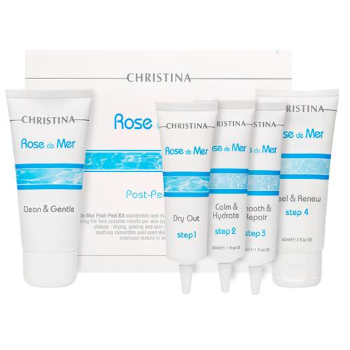 Christina набор для лица Rose De Mer Post-Peel Kit для постпилингового ухода
